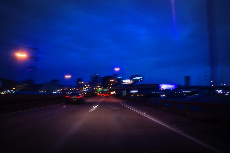 I-10 heading into New Orleans, Louisiana.