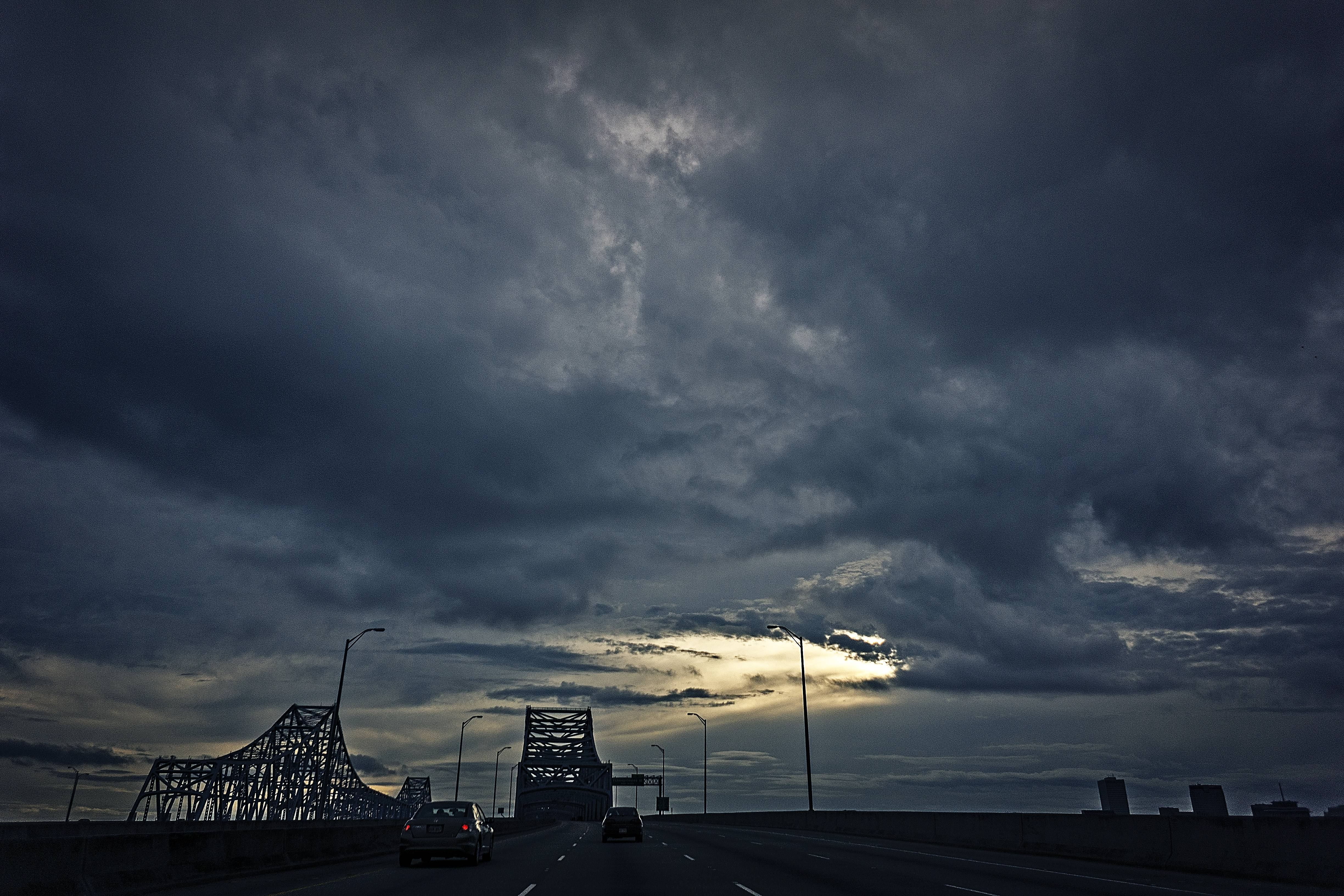 Storm Clouds over The Mississippi River.