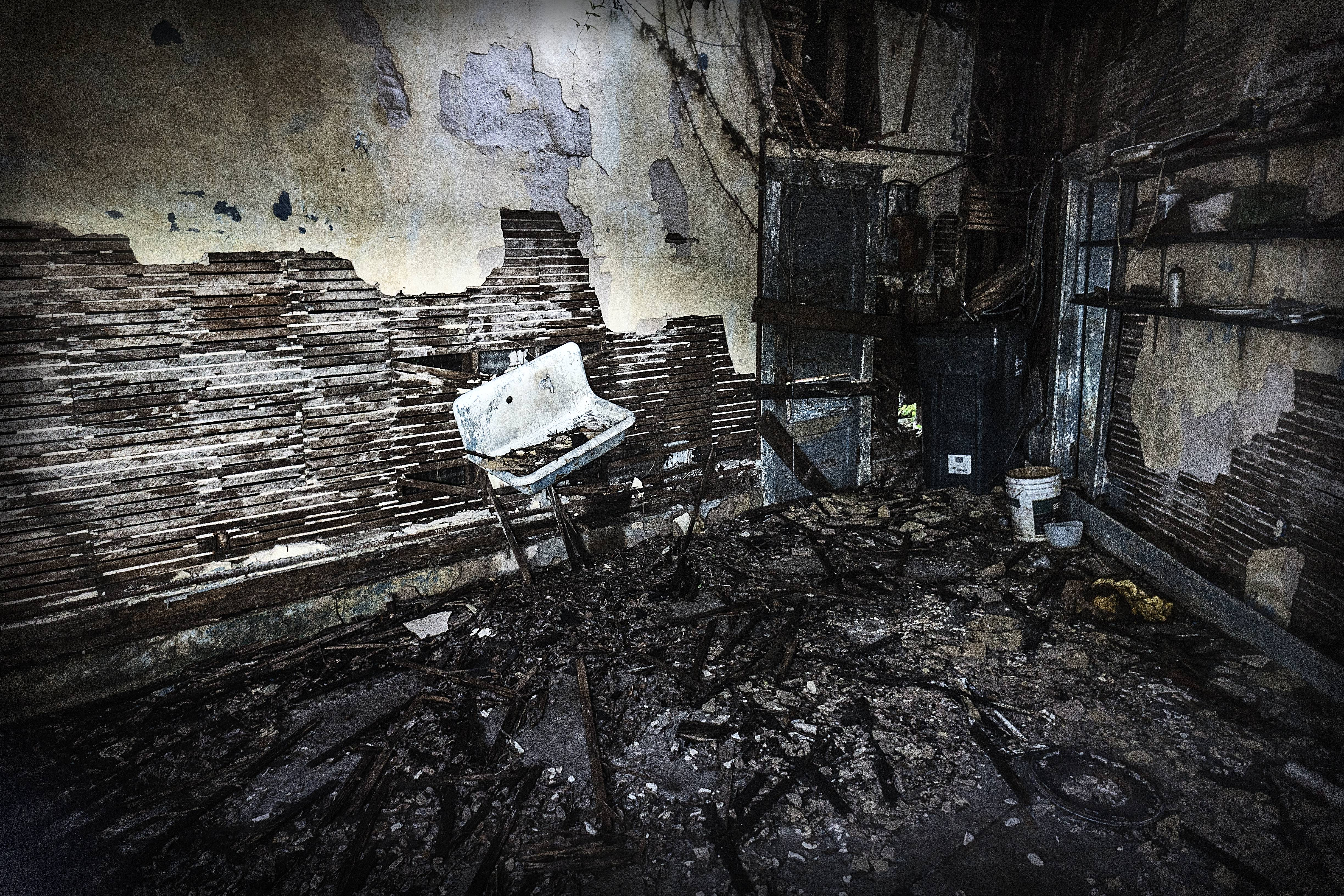 Abandoned buildings have a certain sense of mystery, but not in this case