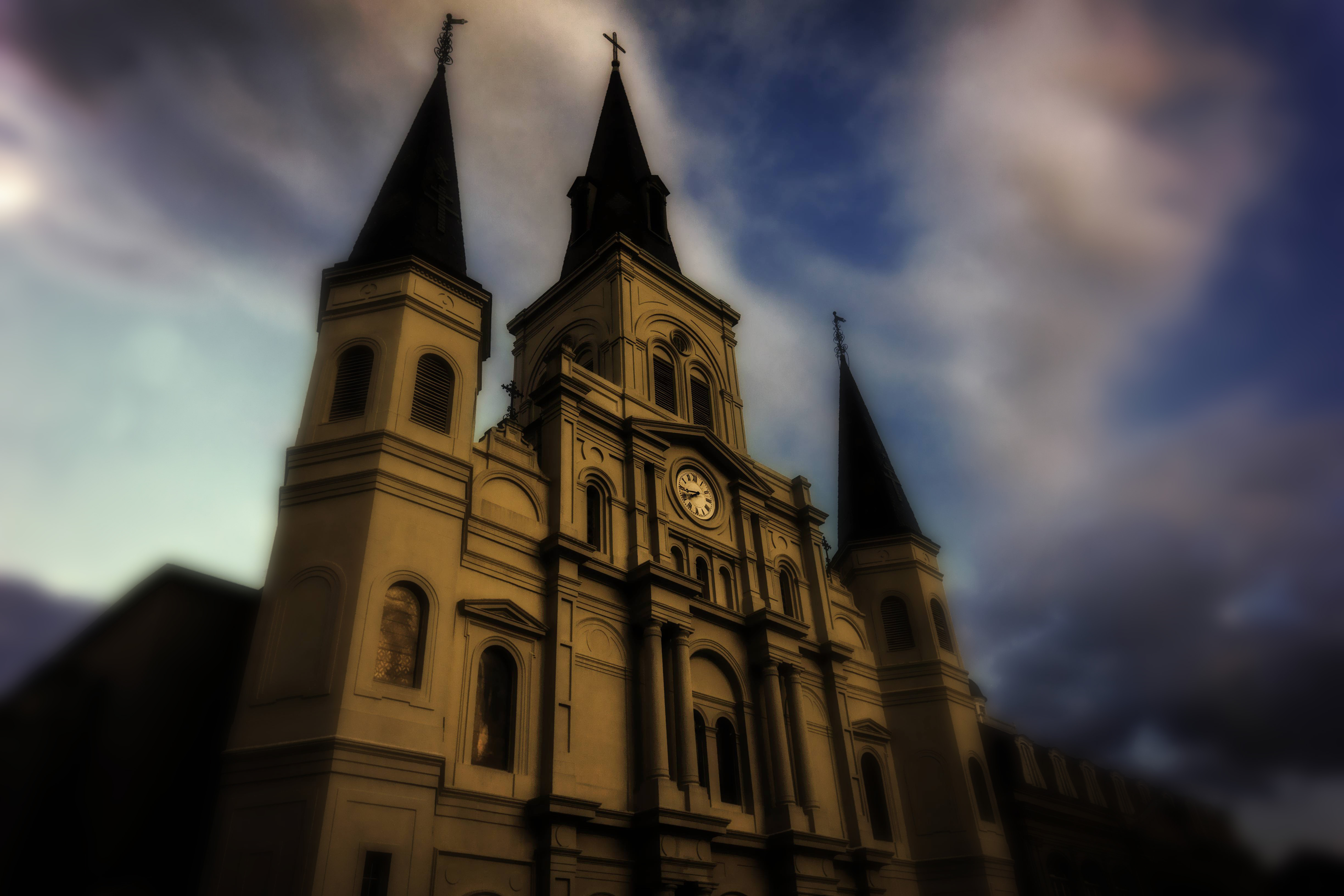 The St. Louis Cathedral has become a magical place for me, especially when I am chasing light and weather.