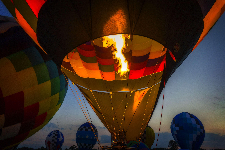 Balloon glow in Gonzales.