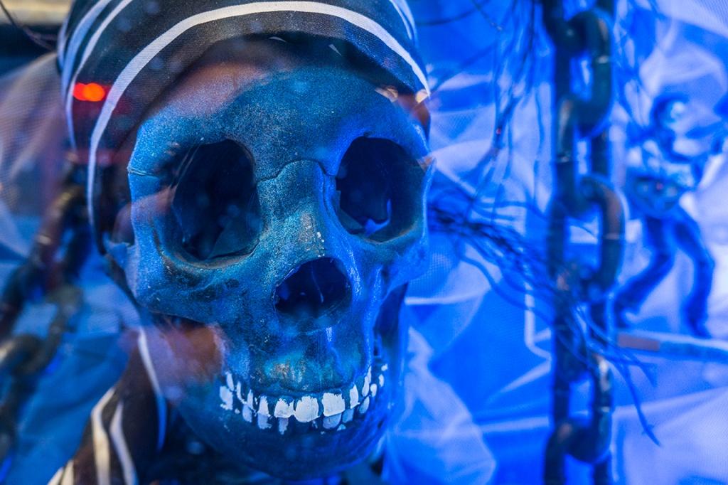 Blue skulls.