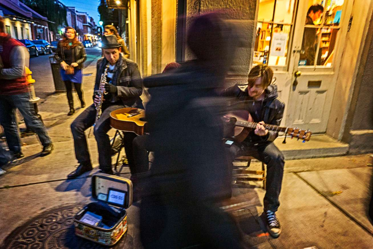 I hear Joni Mitchell every time, I see street musicians.