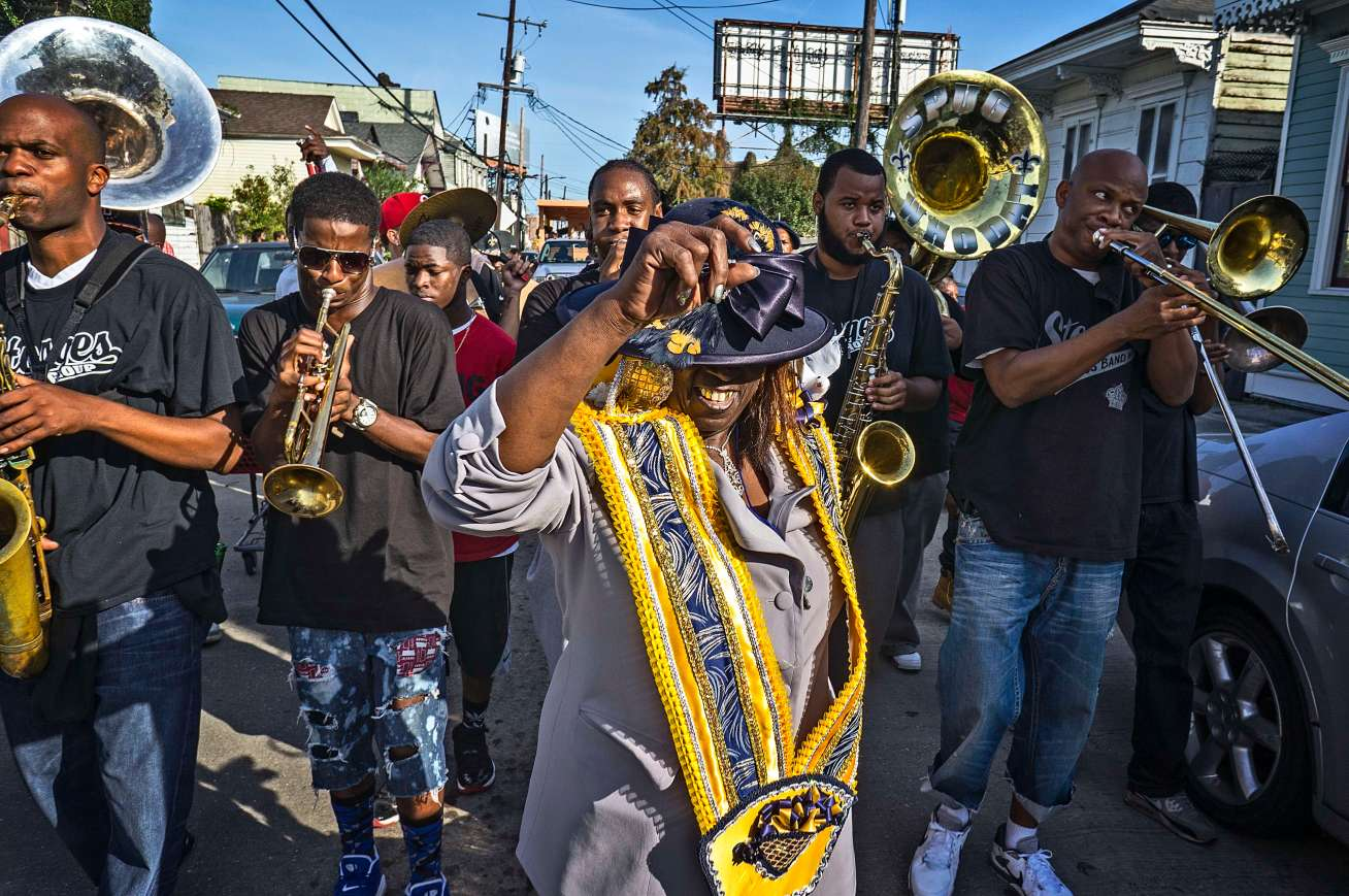 Second line parade in Treme.