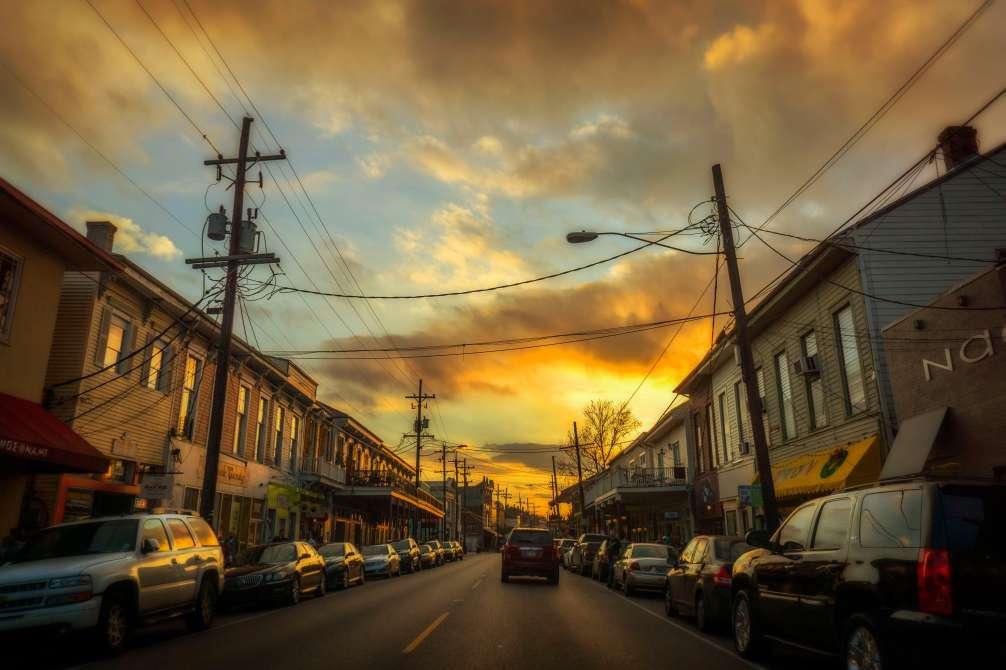 Magazine Street at sunset.