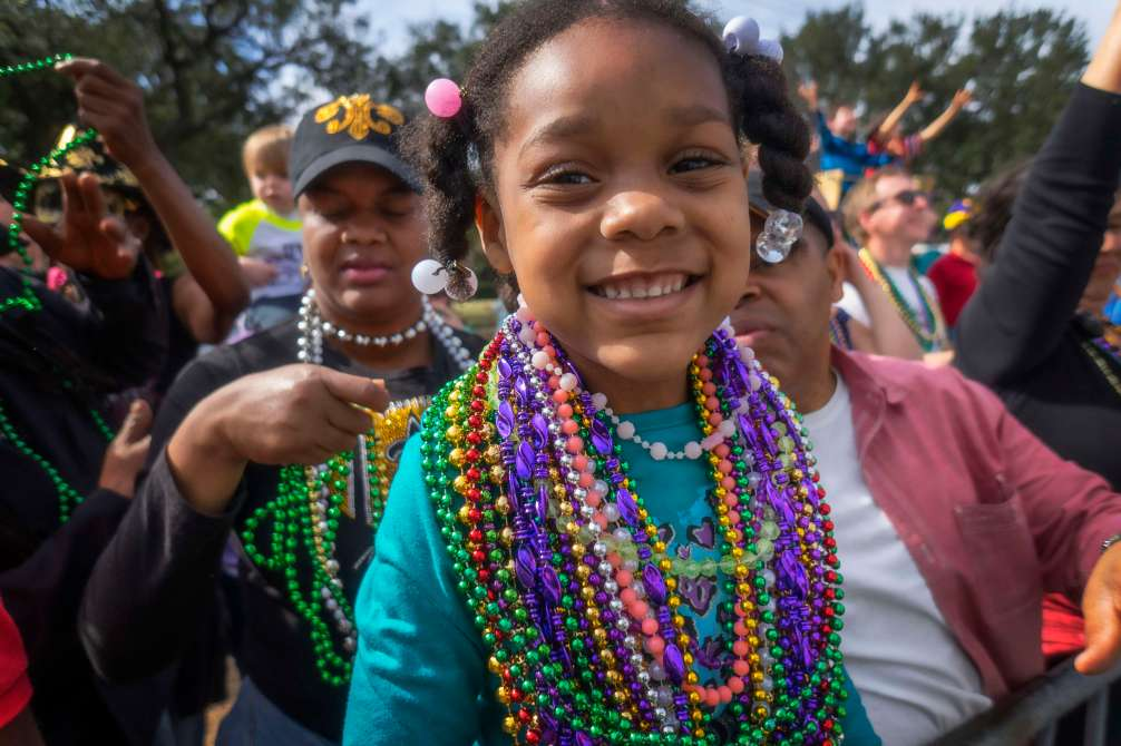 Beads and smiles.