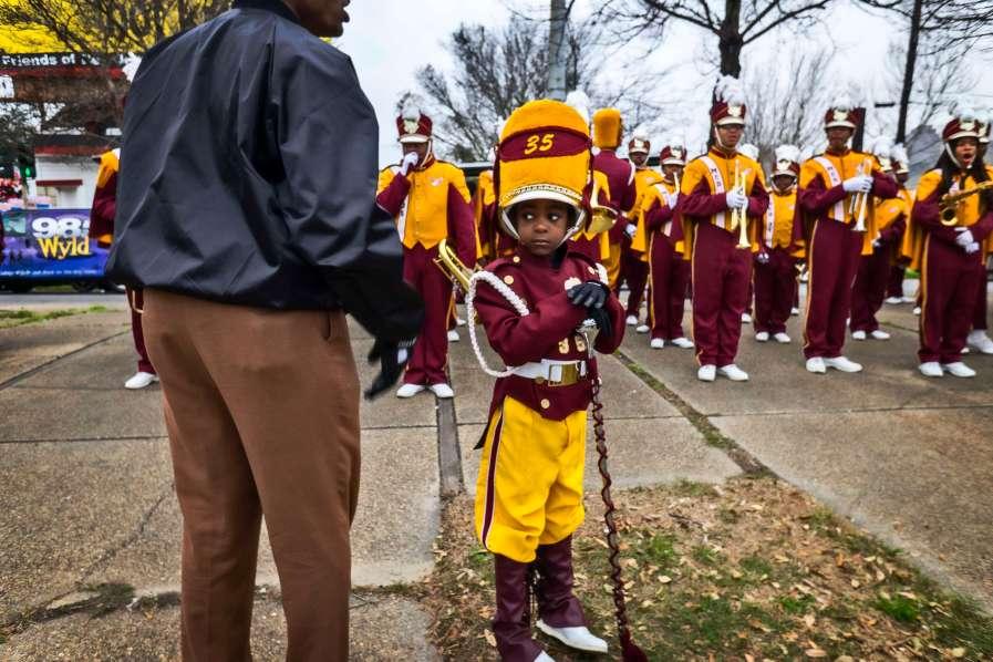 Little ddm major getting ready for Zulu parade.