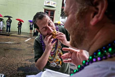 A quick bite. Krewe of Barkus.