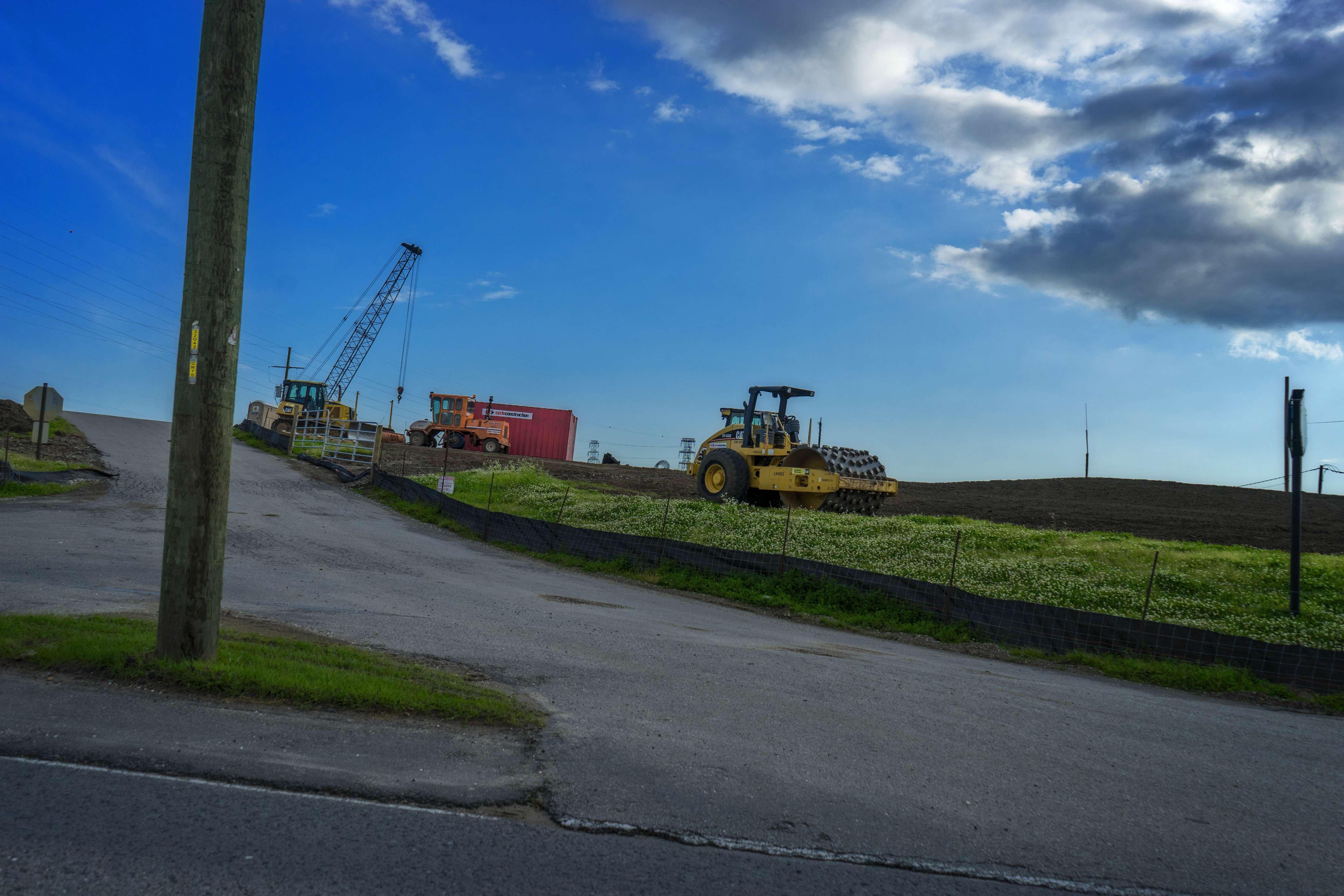 Levee construction.
