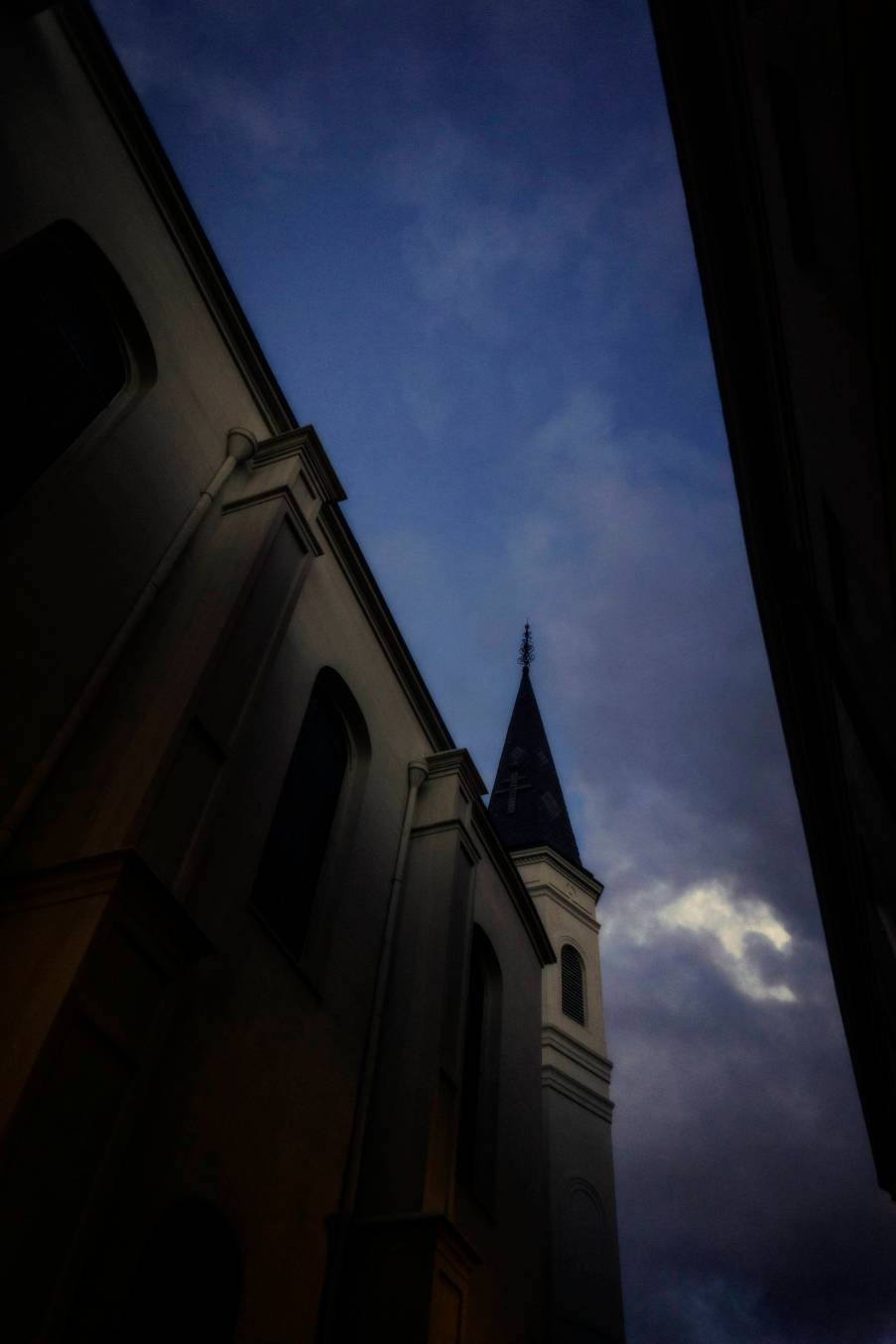 Magic hour with St. Louis Cathedral.