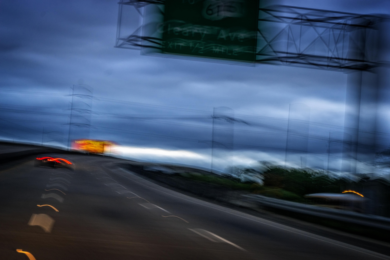 Speeding on Earhart Expressway.