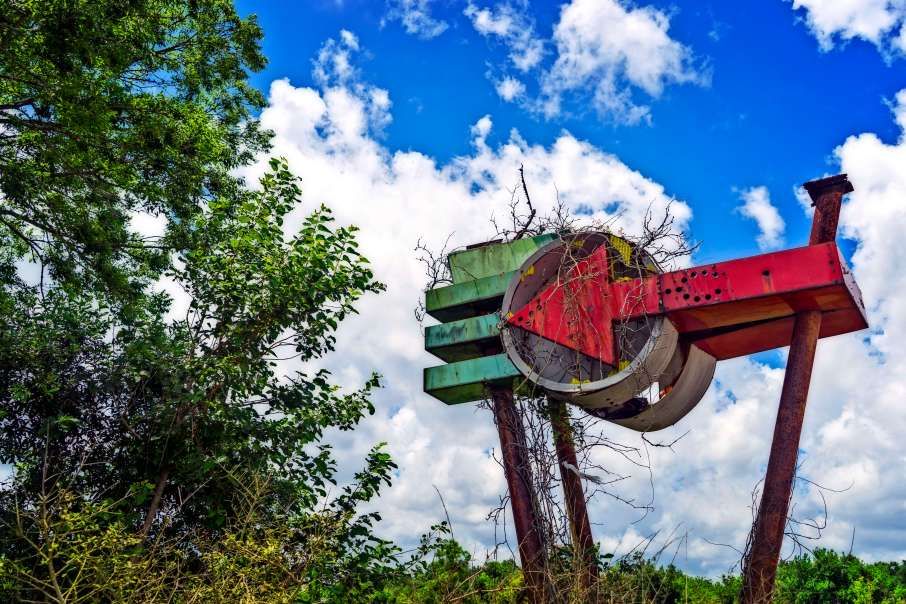 Abandoned drive in movie theater in Orleans Parish.
