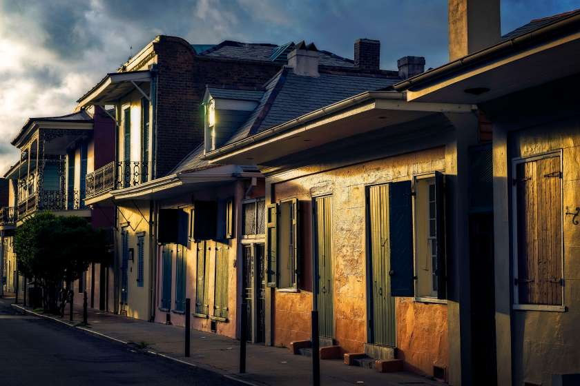 Summer light in the residential side of The French Quarter.