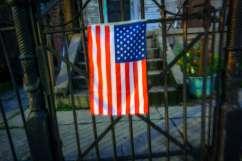 Uptown American flag.