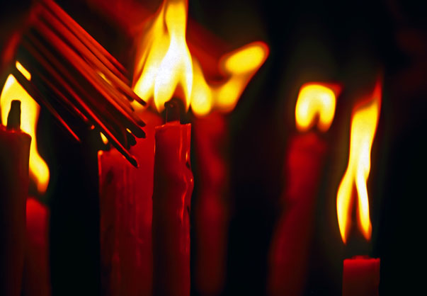 Temple Candles.