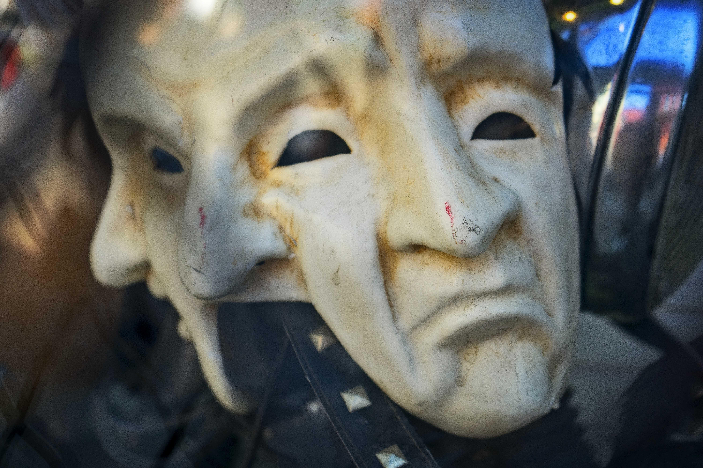 Unhappy masks.