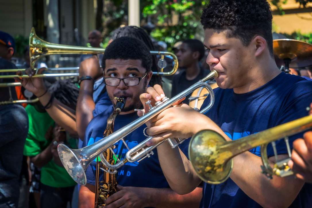 Brass bands and trumpets.