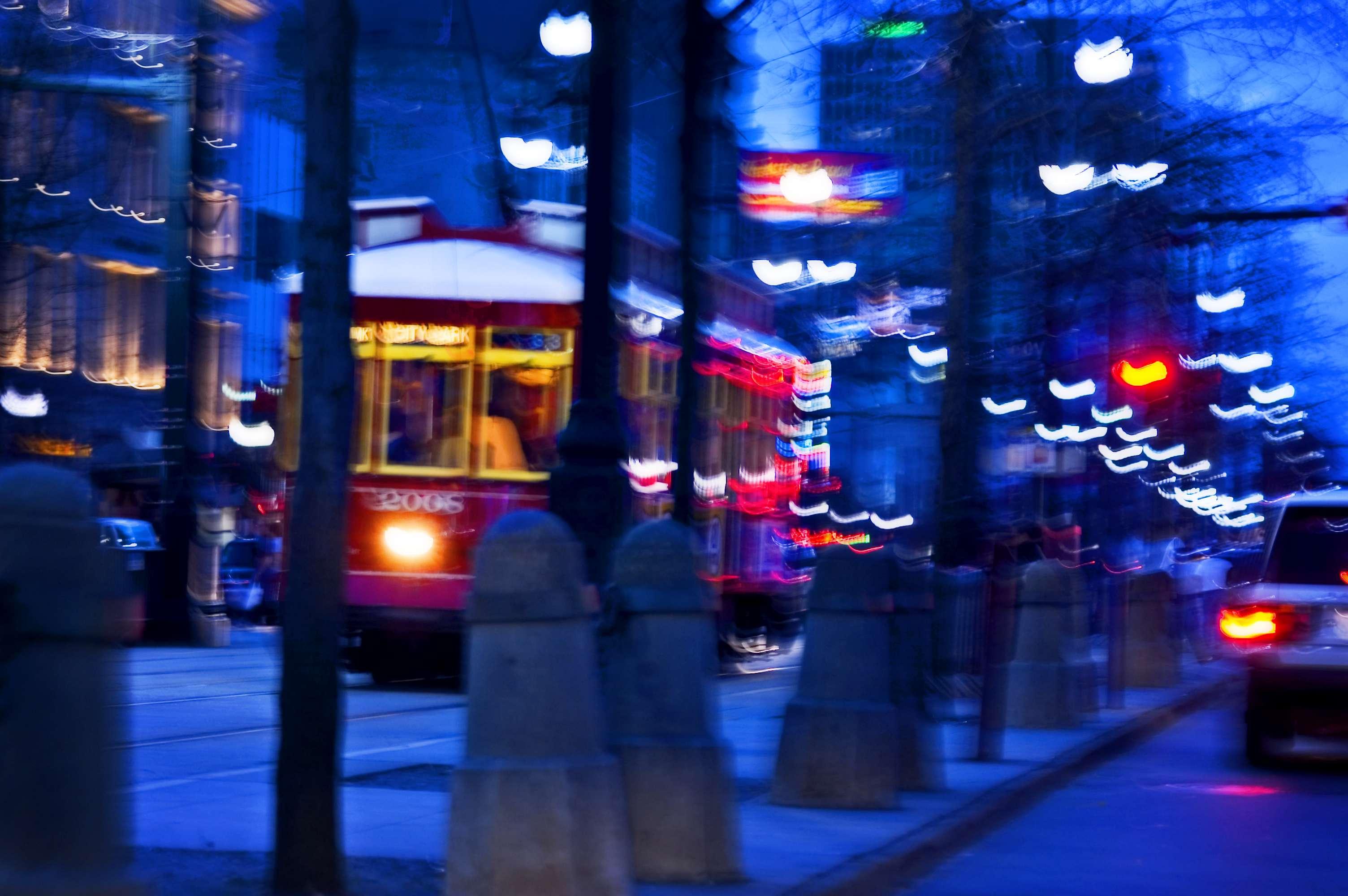 Canal Street. Streetcar.
