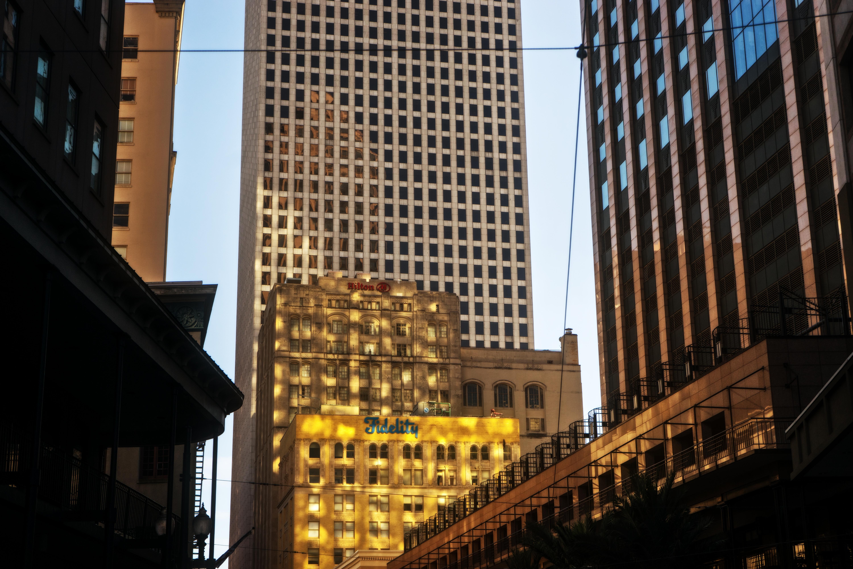 Glowing  Buildings.