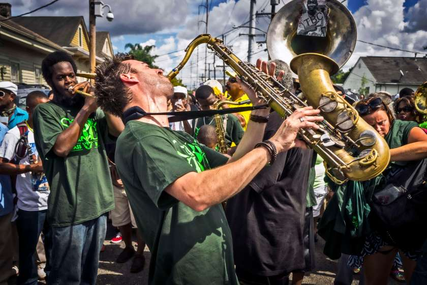 Second line music.