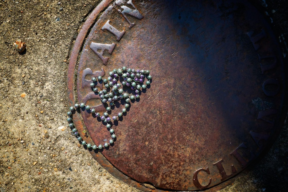 Manhole covers and beads.