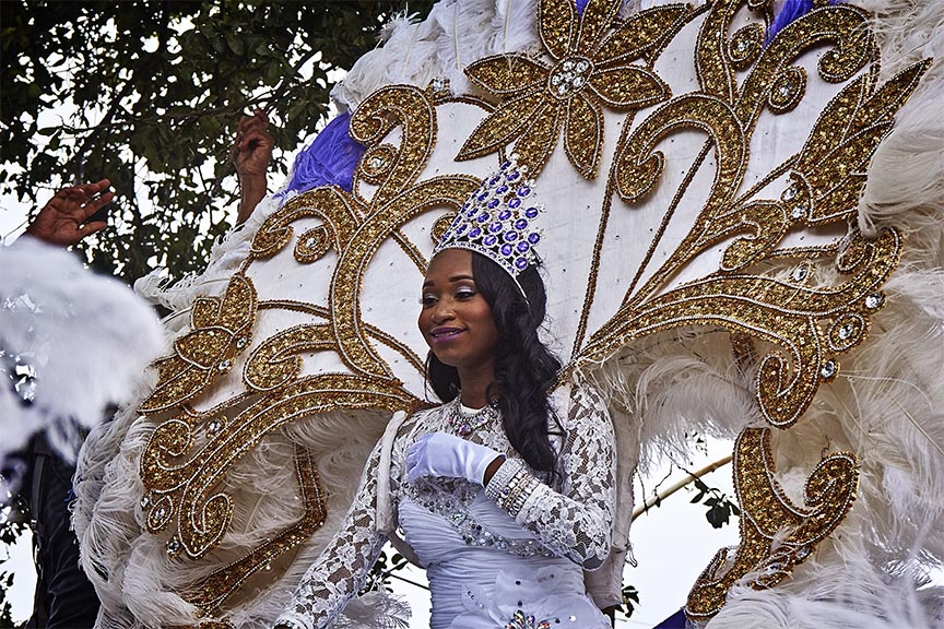 The Queen on the float.