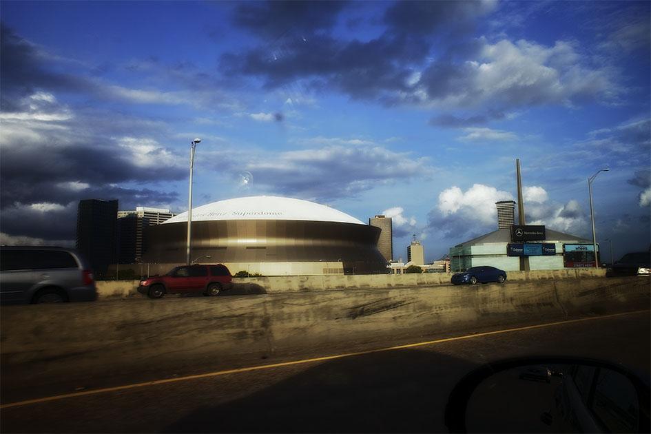 The Mercedes Benz Superdome.