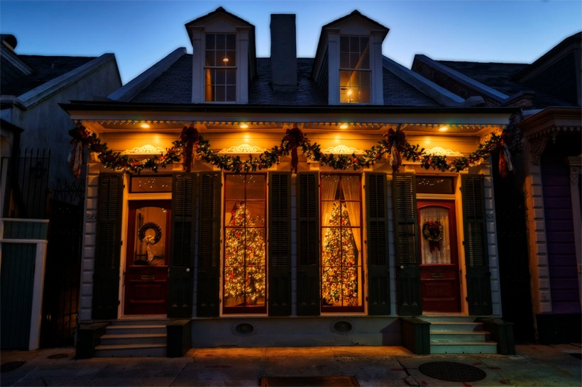 Christmas in the French Quarter.