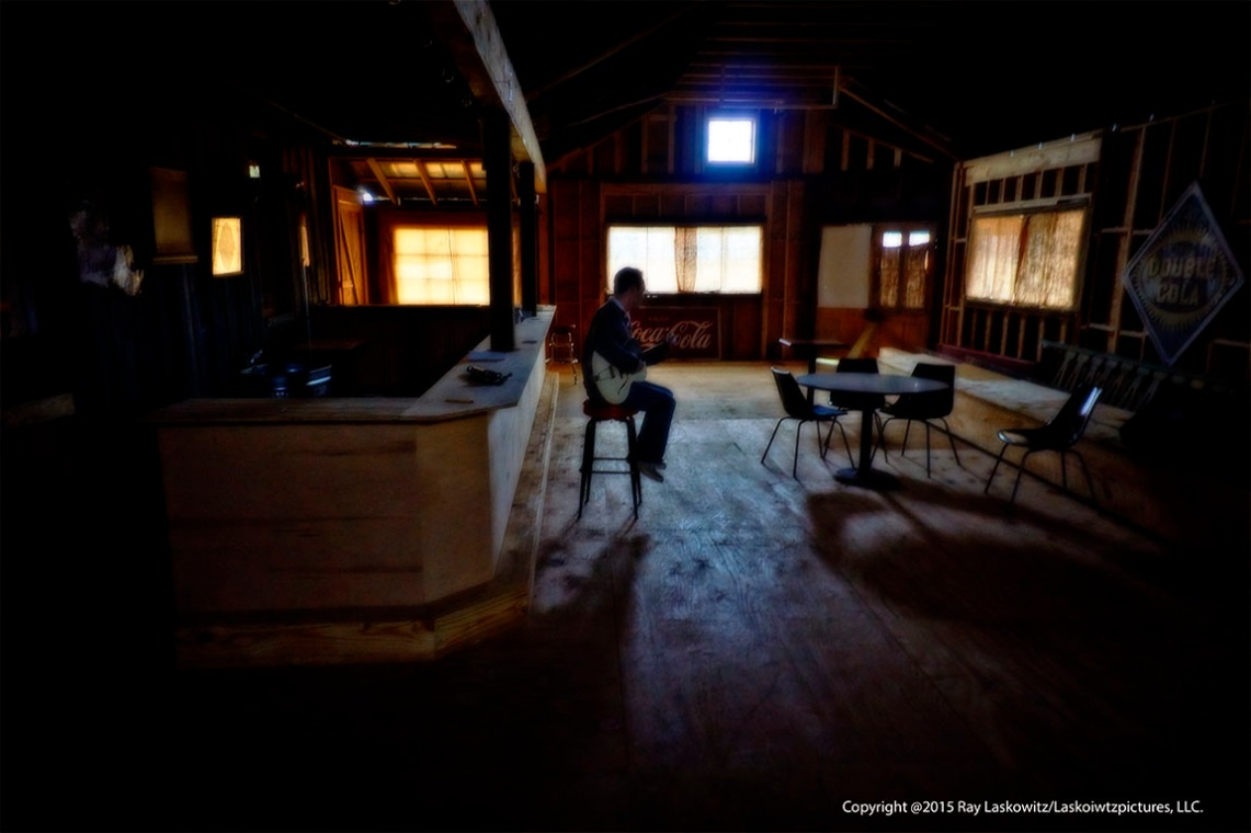 Making music in an old building.