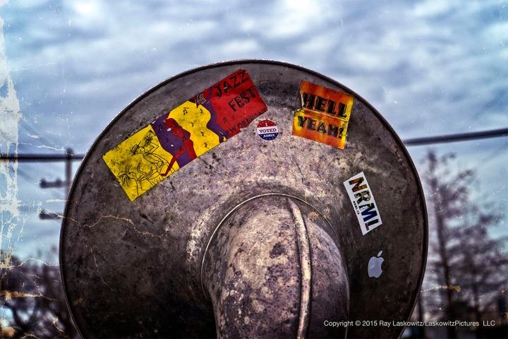 Details. Tuba. Stickers.