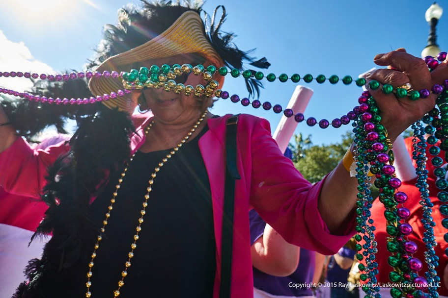 Tangled up in beads.