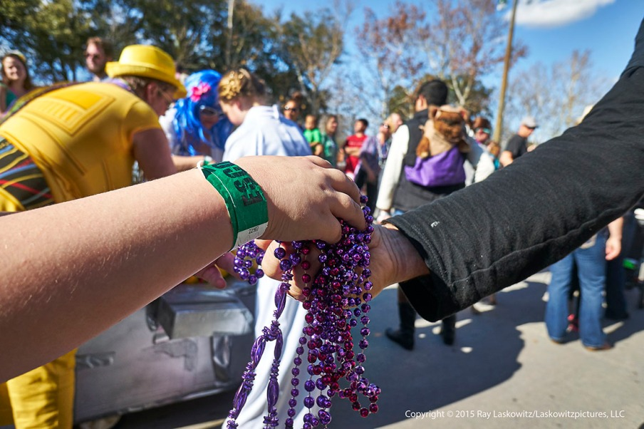 An exchange of beads.