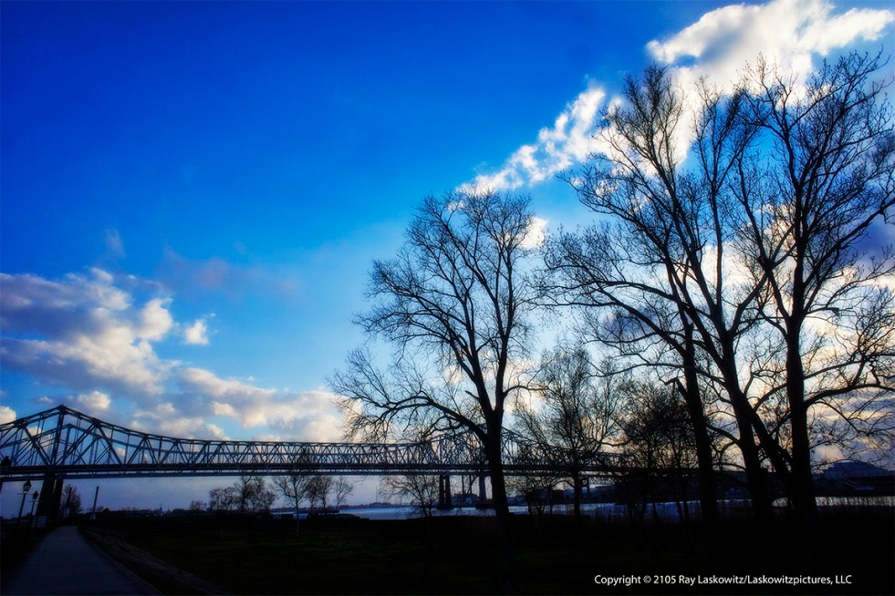 Winter at the levee.