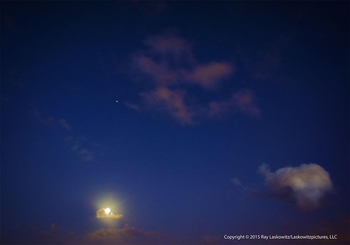 Moonrise over The Mississippi River.