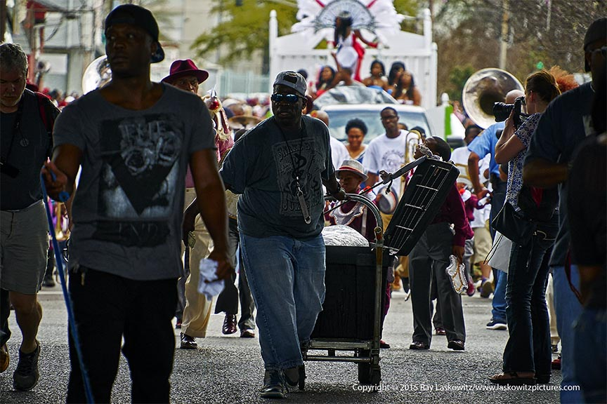 Vendors leading the second line.
