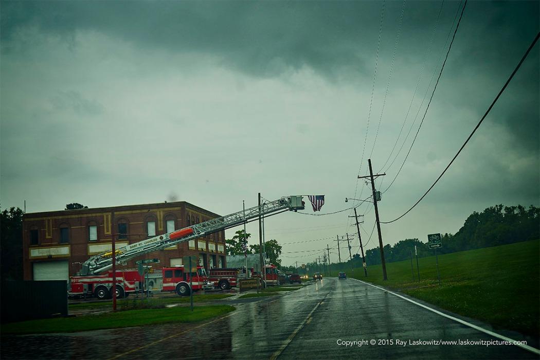 River Road in the rain.