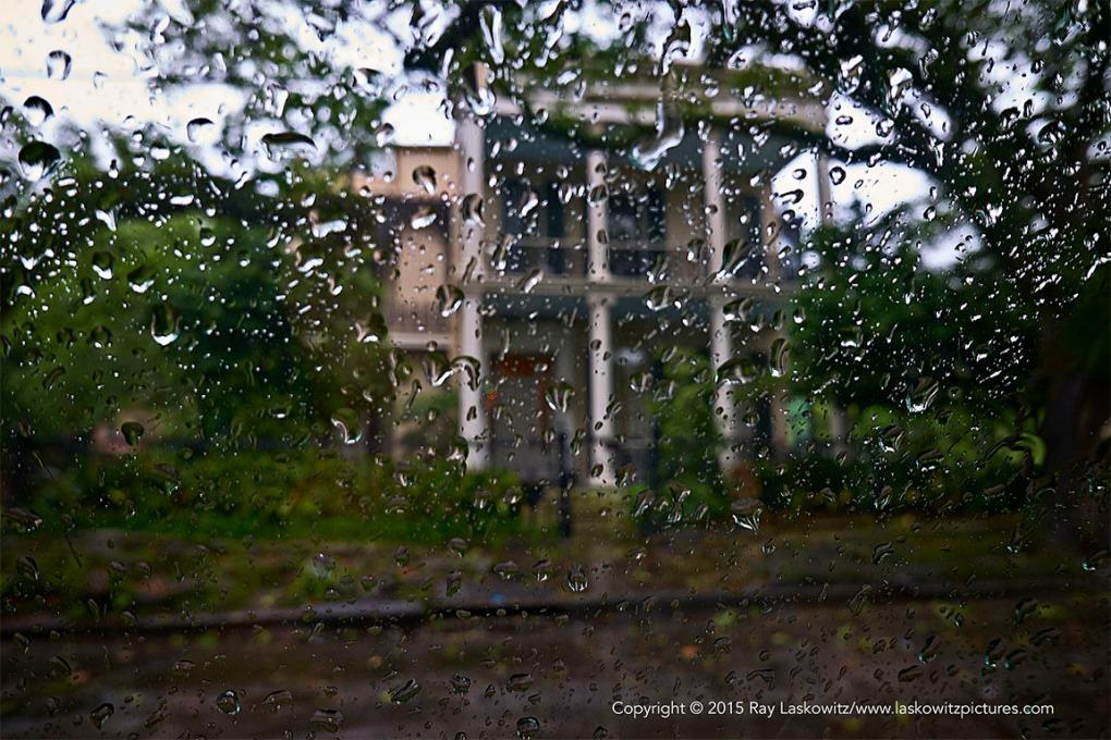 Rain in the Garden District.