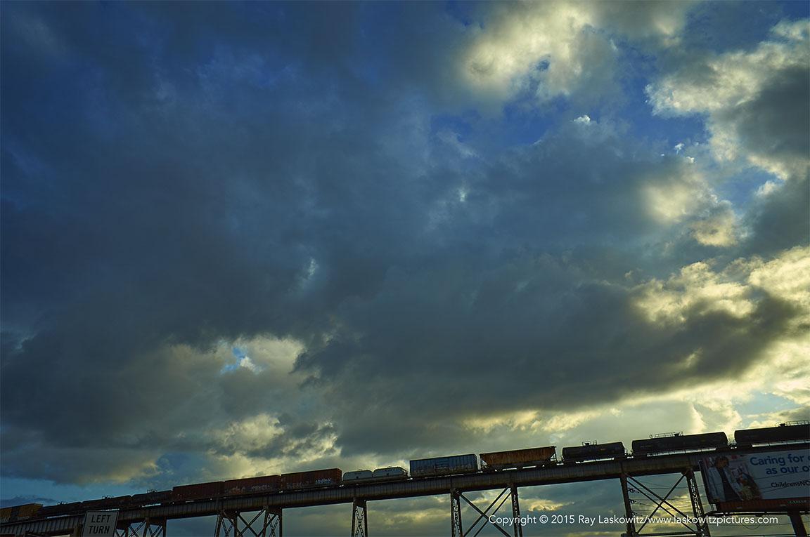 Huey P. Long railroad bridge.