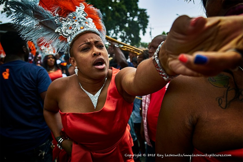 Reaching out, Fathers Day Second Line, CentralCity, New Orleans.
