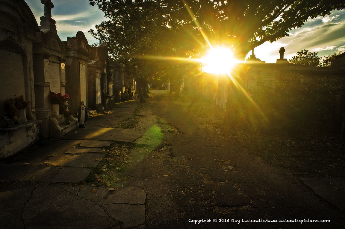 Lafayette Cemetery No. 1 at sunset.