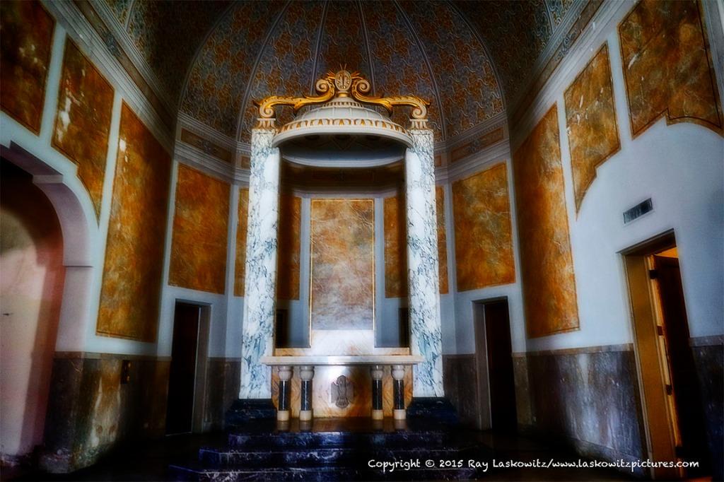 Empty altar.