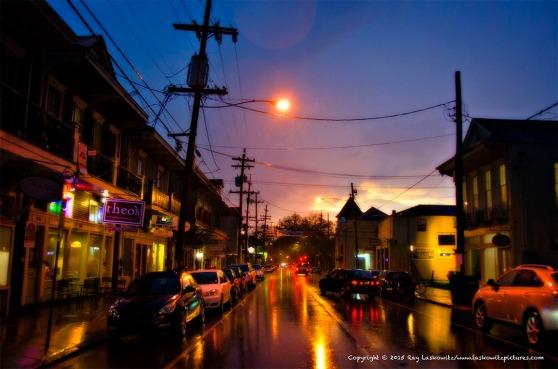 Rainy night on Magazine Street.