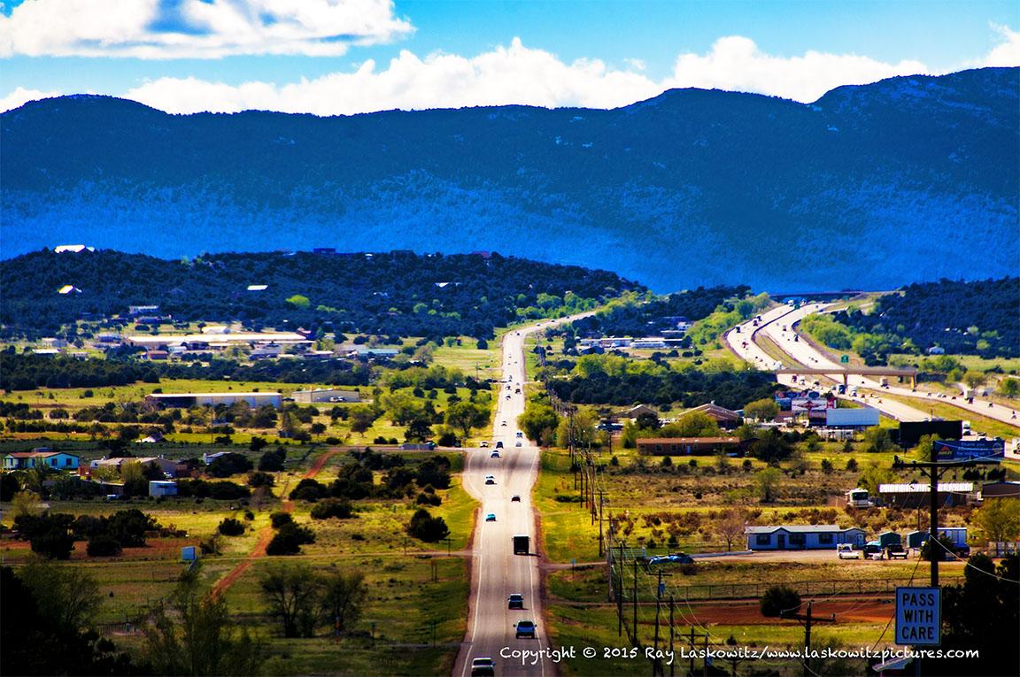 Route 66, West of The Sandias.