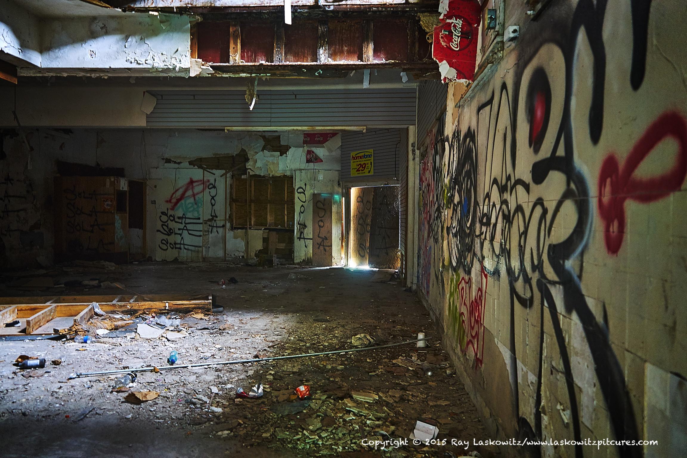 A lot of graffiti.