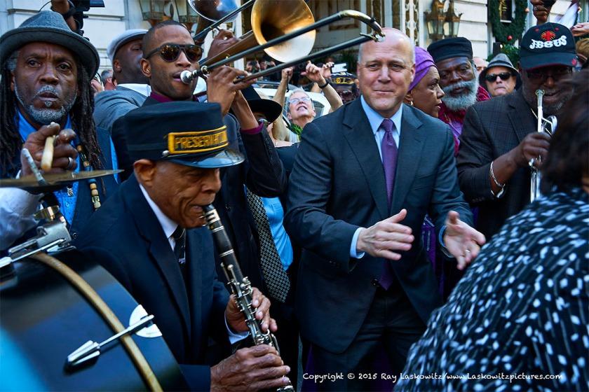 Preservation Hall Jazz Band, Trombone Shorty and Mayor Mitch Landrieu