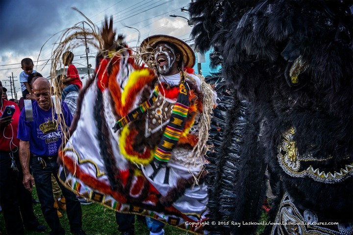 The Krewe of Zulu came out.