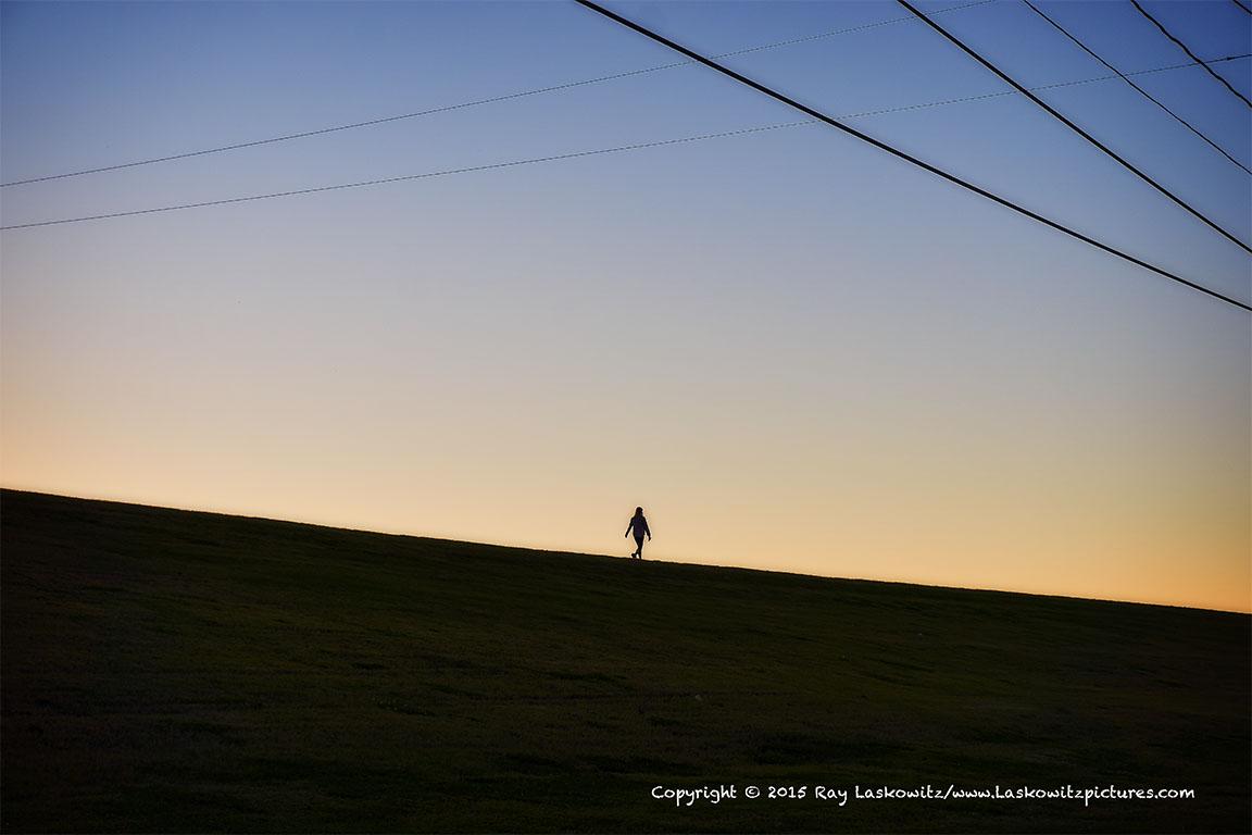 A peaceful levee walk.