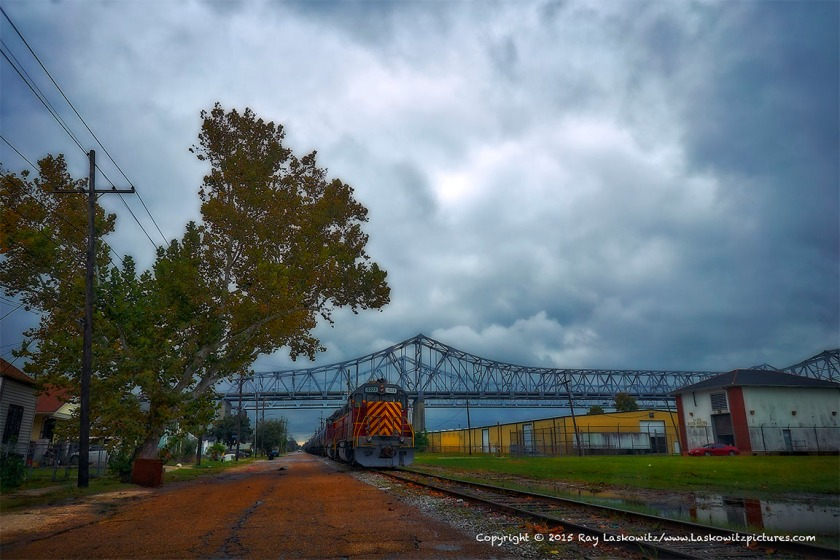 Freight trains in Algiers Point.
