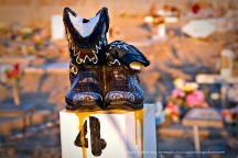Cemetery boots.