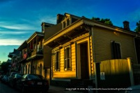 Low sunlight in The French Quarter.